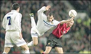 The poor atmosphere during the Champions League clash with Dynamo Kiev saw Keane use the famous