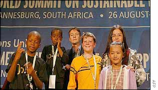 Children at the world summit