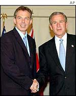 Tony Blair y George W. Bush