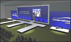 Artists impression, supplied by Conservatives, of the conference set