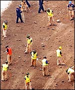 Recovery workers at Ground Zero