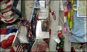 Relatives leave items to remembered those lost