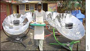 Solar ovens on display in Johannesburg