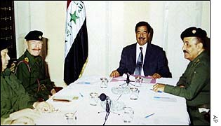Saddam Hussein and senior officials