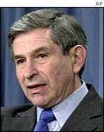US Deputy Defence Secretary, Paul Wolfowitz