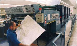 Ordnance Survey map printer
