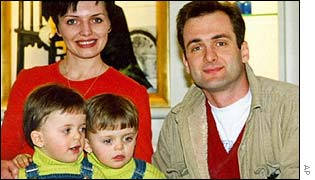 Georgiy Gongadze (R) and family