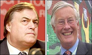 UK Deputy Prime Minister John Prescott (left) and UK Environment Minister Michael Meacher. (AP/PA)