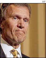 Democratic Senate majority leader Tom Daschle