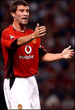 Manchester United captain Roy Keane