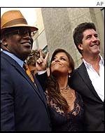 Left to right: Randy Jackson, Paula Abdul and Simon Cowell - judges of American Idol