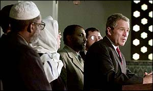 President Bush with Muslim leaders