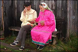 Vasily consults Auntie Shura for tips on Mansi marriage