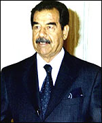 Iraq leader Saddam Hussein