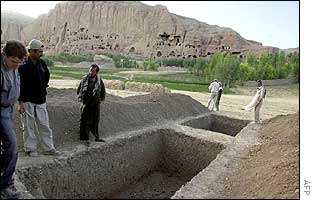 Excavation site in Bamiyan