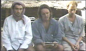 Backpacking victims Jean-Michel Braquet [l], David Wilson [c] and Mark Slater [r]