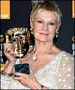 Receiving a BAFTA for her performance in Iris