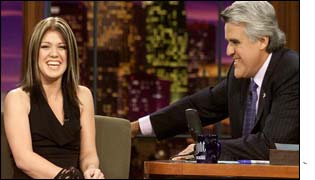 Kelly Clarkson on the Jay Leno show