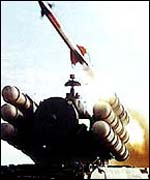Soviet-made SAM-2 missile