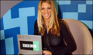 Jordan in the BBCi studio