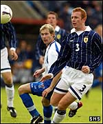 Crainey in action for scotland