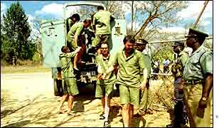 White farmers under arrest in Zimbabwe in 2001