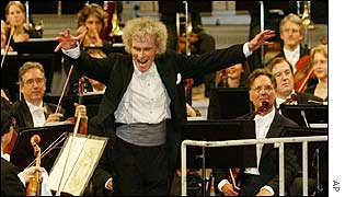 Sir Simon Rattle with the BPO