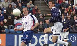 Barry Ferguson scores Scotland's equaliser