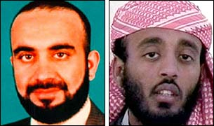 Khalid Sheikh Mohammed and Ramzi Binalshibh (FBI pictures)