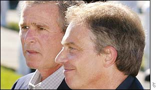 George W Bush and Tony Blair