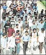 Buet students leave the campus on Sunday