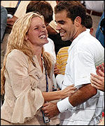 Pete Sampras and wife Bridgette Wilson