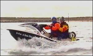 Graham Hicks on his jetski