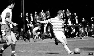 Jimmy Johnstone in his heyday for Celtic