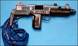 An Uzi gun used in a south London attack
