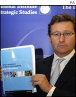 Dr John Chipman, director of the International Institute for Strategic Studies, with the report