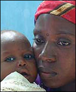 Amina Lawal and her child