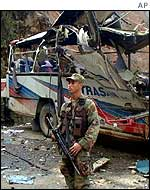 Bomb attack on bus