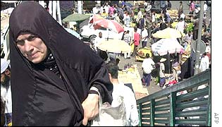 Iraqi woman at Baghdad market