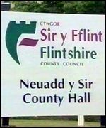 Flintshire County Council sign