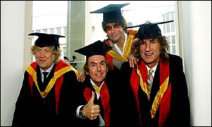 Slade (from left) - Noddy Holder, Dave Hill, Jim Lea and Don Powell