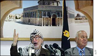 Yasser Arafat addresses the PLC
