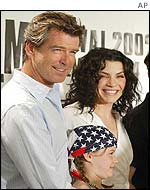 Pierce Brosnan and Julianna Margulies