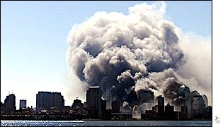 World Trade Center collapses on 11 September 2001