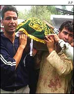 Funeral of Kashmiri election candidate
