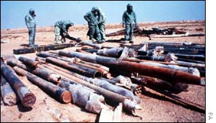 Sarin-filled rockets were found in Iraq after the Gulf War