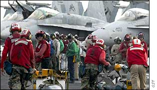 Aircrew on board US Gulf vessel