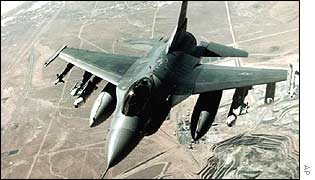 A US fighter aircraft over Iraq