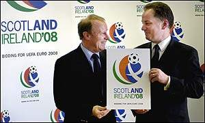 Scotland coach Bertie Vogts and First Minister Jack McConnell