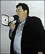 Rick Rescorla directs the evacuation of the South Tower